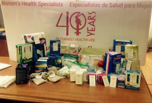 Period Products donated through WHS Chico clinic